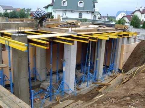 Давление бетонной смеси на стенки опалубки бетон компоненты пропорции