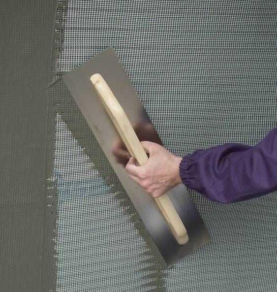 нанесение сетки на стены