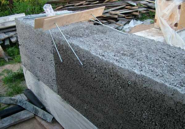 Заливка стены керамзитобетоном щетка для бетона купить