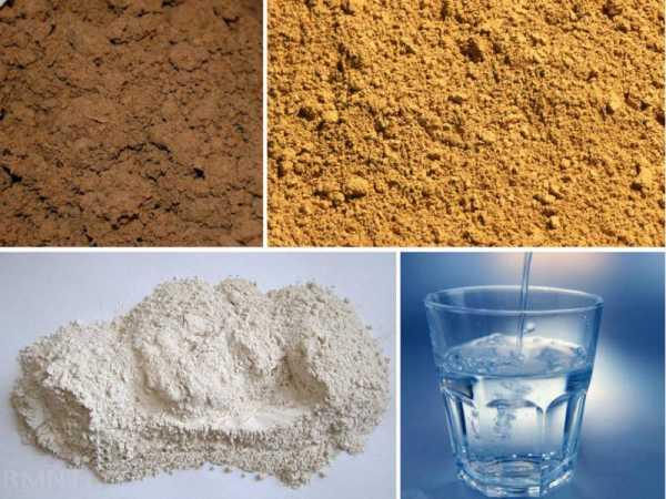 песок и известь для цемента