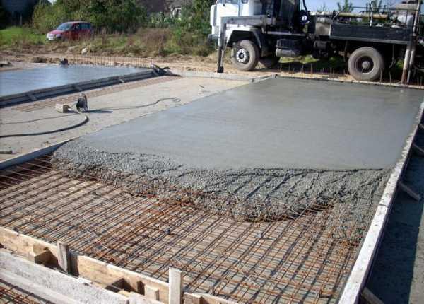 Затвердевания бетона сплошной бетон