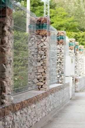 Забор из габионов 55 фото технологии укладки камней особенности габионовой и каменной конструкции